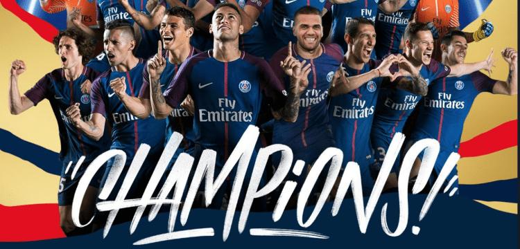 Paris Saint-Germain Ligue 1 champions