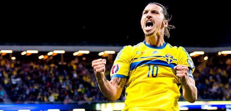 Zlatan cheering for Sweden